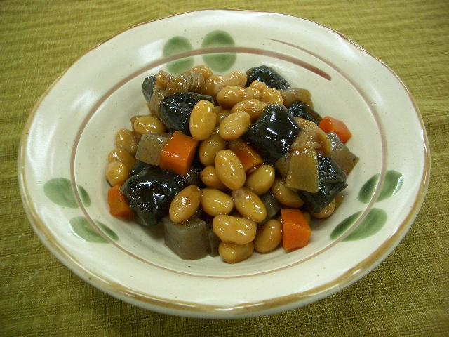 簡単昆布豆