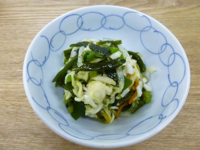 野沢菜わかめサッパリサラダ